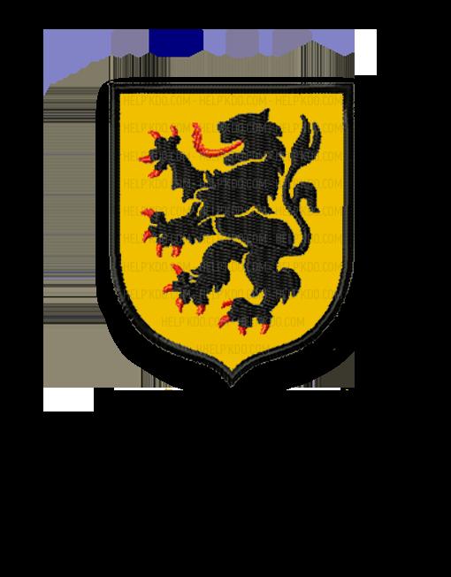 écusson -broderie -lion -des- flandres-helpkdo